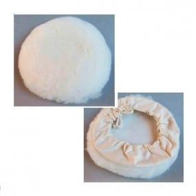Bonnet laine d'agneau à cordons Ø180 mm