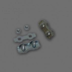Serre câble plat avec 2 boulons pour câble de 4mm