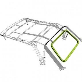 Cadre de lunette arrière pour capote Volkswagen Golf 1 cabriolet