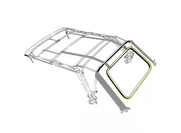 Joint de lunette arrière pour capote de Volkswagen Golf 1 et 2