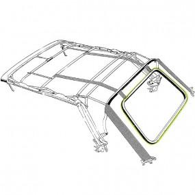 Joint lunette arrière de capote de Volkswagen Golf 3 cabriolet