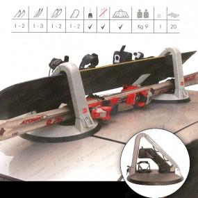 Porte ski/snowboard magnétique
