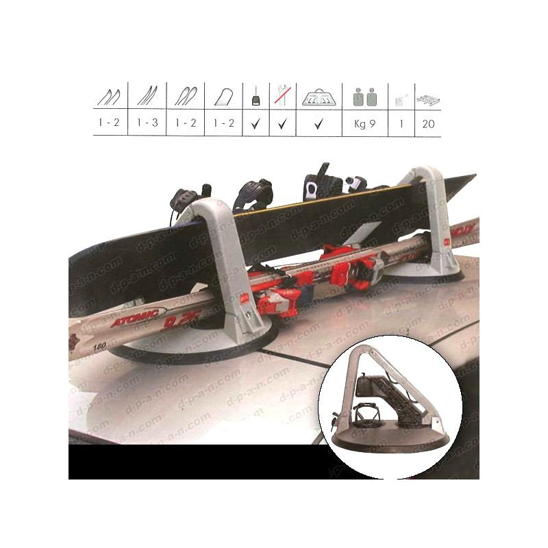 Porte ski et porte snowboard magn tique 2 paires for 2 porte skis magnetiques shark