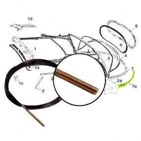 Câble arrière de tension capote Volkswagen 1302, 1303 Coccinelle