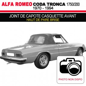 Joint de capote casquette avant (haut de pare brise) Alfa Romeo Coda Tronca 1750/2000