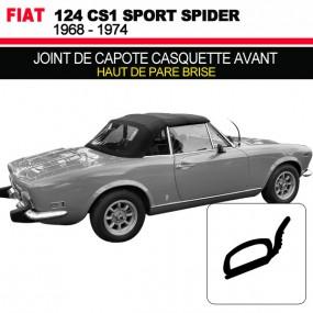 Joint de capote casquette avant pour cabriolets Fiat 124 CS1 Spider