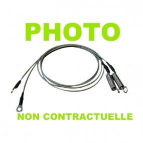 Câble latéral gauche de tension pour Porsche 930 cabriolet