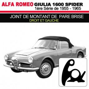 Joint de montant de pare brise droit et gauche cabriolets Alfa Romeo Giulia Spider 1600 (1ere série)