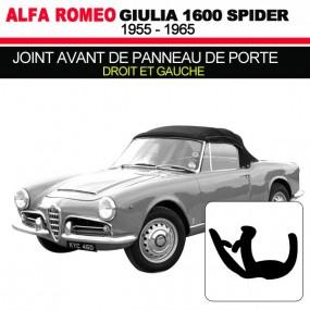 Joint avant de panneau de porte droit et gauche cabriolets Alfa Romeo Giulia Spider 1600
