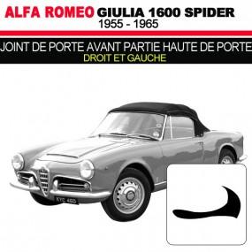 Joint de porte avant partie haute de porte droit et gauche cabriolets Alfa Romeo Giulia Spider 1600