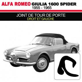Joint de tour de porte droit et gauche cabriolets Alfa Romeo Giulia Spider 1600