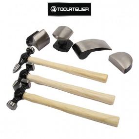 Mallette de 7 outils pour débosselage de carrosserie - ToolAtelier