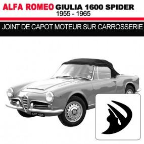 Joint de capot moteur sur carrosserie cabriolets Alfa Romeo Giulia Spider 1600