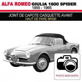 Joint de capote casquette avant ( haut de pare brise) cabriolets Alfa Romeo Giulia Spider 1600