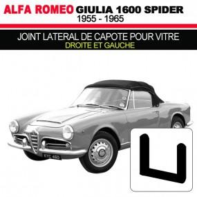Joint lateral de capote pour vitre droite et gauche cabriolets Alfa Romeo Giulia Spider 1600