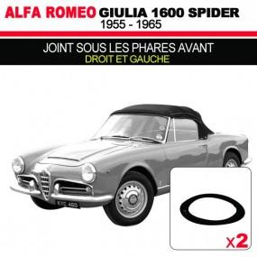 Joint sous les phares avants (droit et gauche) cabriolets Alfa Romeo Giulia Spider 1600