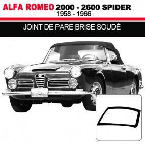 Joint de pare brise soudé pour les cabriolets Alfa Romeo 2000, 2600 Spider