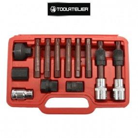 Coffret pour démontage de poulie d'alternateur debrayable multimarques (13 pièces) - ToolAtelier