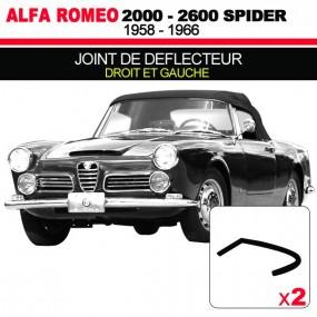 Joint de deflecteur pour les cabriolets Alfa Romeo 2000, 2600 Spider