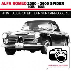 Joint de capot moteur sur carrosserie cabriolets Alfa Romeo 2000, 2600 Spider