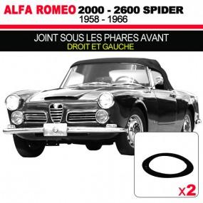 Joint sous les phares avants cabriolets Alfa Romeo 2000, 2600 Spider