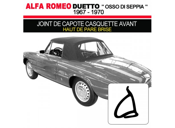 joint de capote casquette avant pour cabriolets alfa romeo duetto 1600 1750. Black Bedroom Furniture Sets. Home Design Ideas