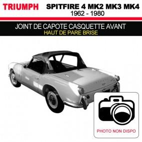 Joint de capote casquette avant (haut de pare brise) pour les cabriolets Triumph Spitfire