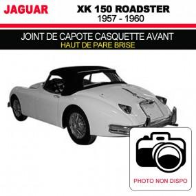 Joint de capote casquette avant (haut de pare brise) pour les cabriolets Jaguar XK 150 Roadster