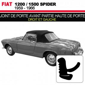 Joint de porte avant partie haute de porte pour les cabriolets Fiat 1200/1500