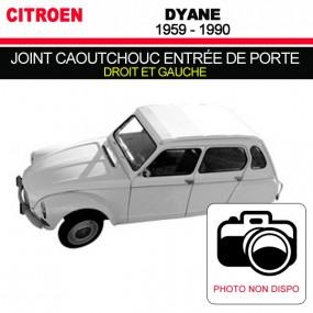 Joint caoutchouc pour entrée de porte droit et gauche pour les cabriolets Citroën Dyane