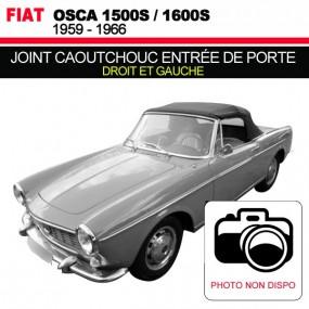 Joint caoutchouc pour entrée de porte droit et gauche pour les cabriolets Fiat Osca 1500S/1600S