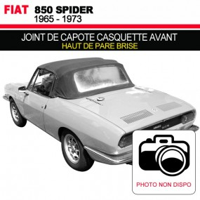 Joint de capote casquette avant pour les cabriolets Fiat 850 Spider