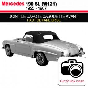 Joint de capote casquette avant (haut de pare brise) pour les cabriolets Mercedes 190 SL