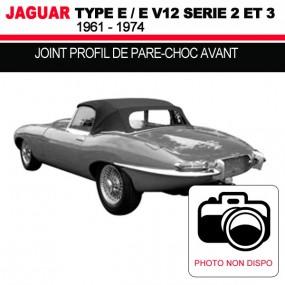 Joint profil de pare-choc avant pour les cabriolets Jaguar Type E Série 2 et 3