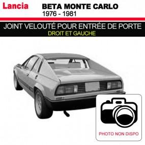 Joint velouté pour entrée de porte pour les cabriolets Lancia Beta Monte Carlo