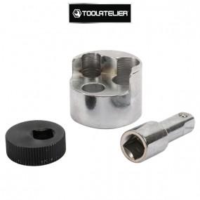 Extracteur de goujons à molette excentrée (Ø 6 à 19mm) - ToolAtelier