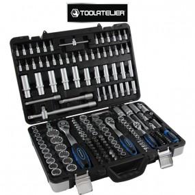 Coffret d'outils : clés à cliquet, douilles, embouts et rallonges (171 pièces) - ToolAtelier