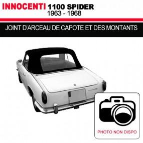 Joint d'arceau de capote et des montants pour les cabriolets Innocenti 1100 Spider
