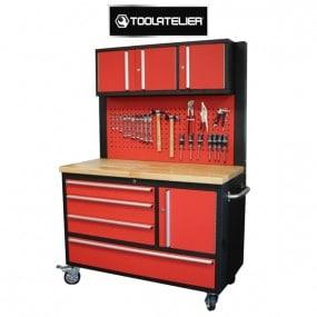 Combiné roulant servante à outils / établi / panneau / étagère fixe - ToolAtelier