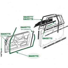 Joint intérieur de porte Peugeot 204/304 cabriolet