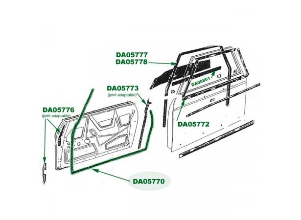 Joint intérieur de porte Peugeot 204/304 cabriolet (JOC8)