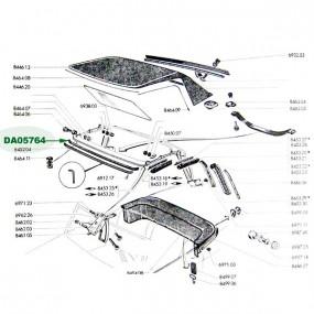 Joint de protection de casquette Peugeot 204/304 cabriolet