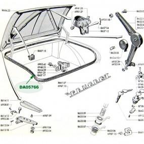 Joint de coffre Peugeot 204/304 cabriolet