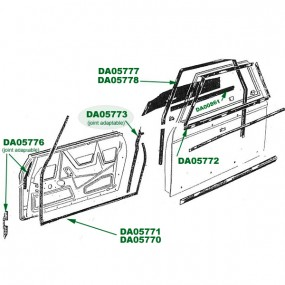 Joint porte-aile Peugeot 204/304 cabriolet