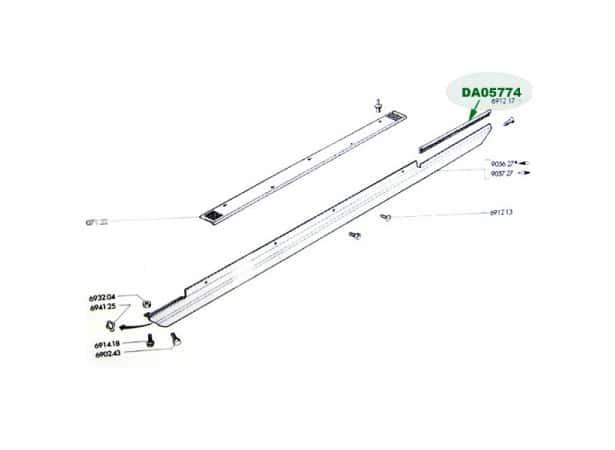 Joint protection bas de caissse 204/304