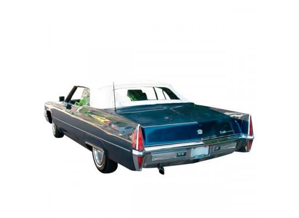 Capote auto Cadillac Deville cabriolet en vinyle avec lunette arriere en PVC