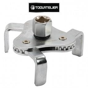 Clé 3 griffes filtre à huile, tripodes auto-réglable (63 à 101 mm) - ToolAtelier®