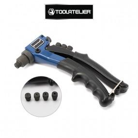 Pince à riveter avec 4 embouts - ToolAtelier®