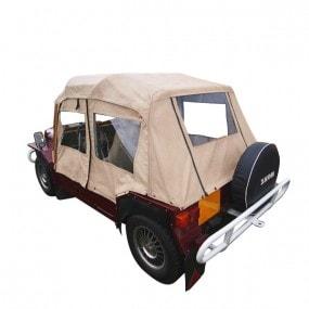 Capote Mini Moke Australienne cabriolet en Vinyle Everflex - lunettes + portes PVC