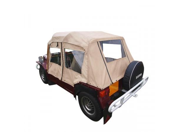 Capote auto Mini Moke Australienne cabriolet en Vinyle Everflex avec lunettes PVC